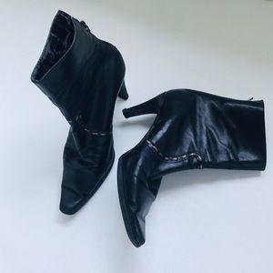 """Unisa Genuine Black Leather 3"""" Ankle Boot"""